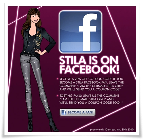 Stila Facebook Fan Page 1