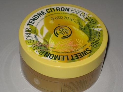 The Body Shop Sweet Lemon Body Scrub 1