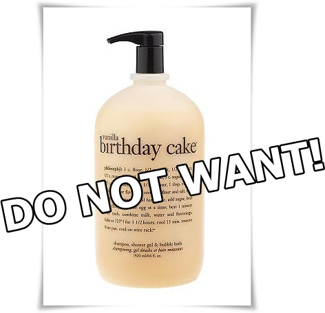 Do Not Want: Philosophy 64 oz Vanilla Birthday Cake Shower Gel