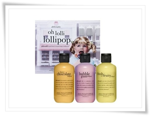 Philosophy Chewy Chocolate Lollipop Shower Gel Philosophy Bubble Gum Lollipop Shower Gel Philosophy Oh Lolli Lollipop Set Spring 2011