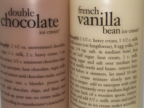 Philosophy Double Chocolate Ice Cream and French Vanilla Bean Shower Gel 1
