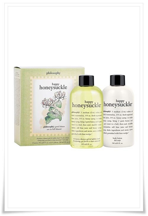 Philosophy Happy Honeysuckle and Lively Lemon Verbena Shower Gel and Lotion 1