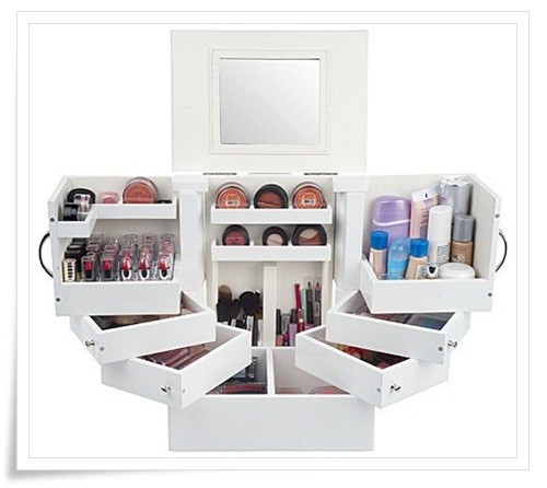 Lori Greiner Luxury Deluxe Wood Cosmetic Box on QVC