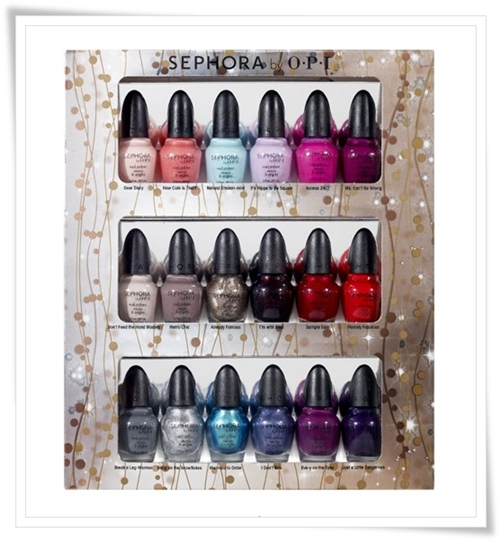Sephora by Opi Glimmer Wonderland Eighteen Piece Mini Nail Colour Set for Holiday 2011