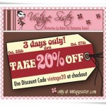 Vintage Sister Coupon Code for October 2011