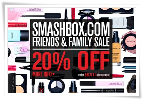 Smashbox Friends and Family 2011 Coupon Code