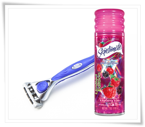 Schick Quattro for Women Purple Razor Skintimate Skintimate Holographic Can Designs