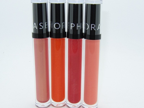 Sephora Crystal Gloss Flushed Golden Embrace Forbidden Move Passionate Dance Swatches 1