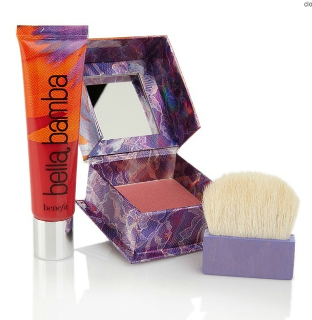 Benefit Cosmetics Box O Powder and Ultra Plush Lip Gloss Set Bella Bamba