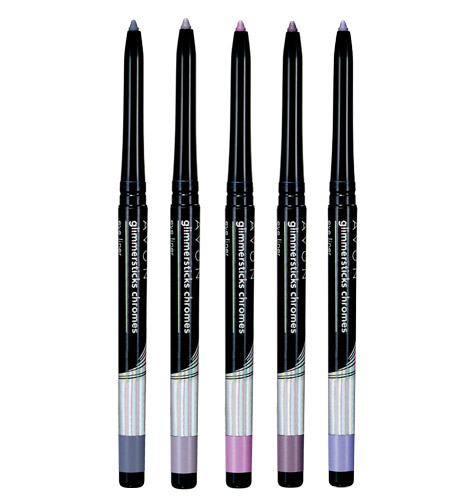 Avon Glimmersticks Chromes 5 Piece Eye Liner Collection Holiday 2012