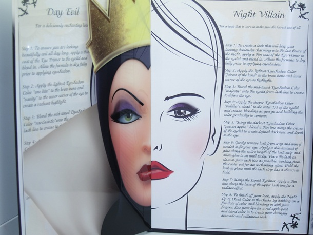 E.L.F. Devious Dramatic Eyes Evil Queen Palette Face Chart