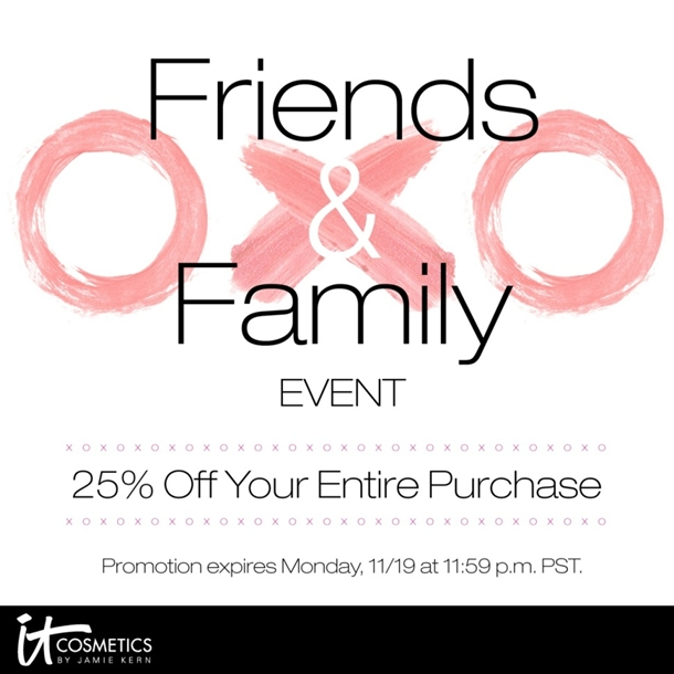 It Cosmetics Friends and Family 2012