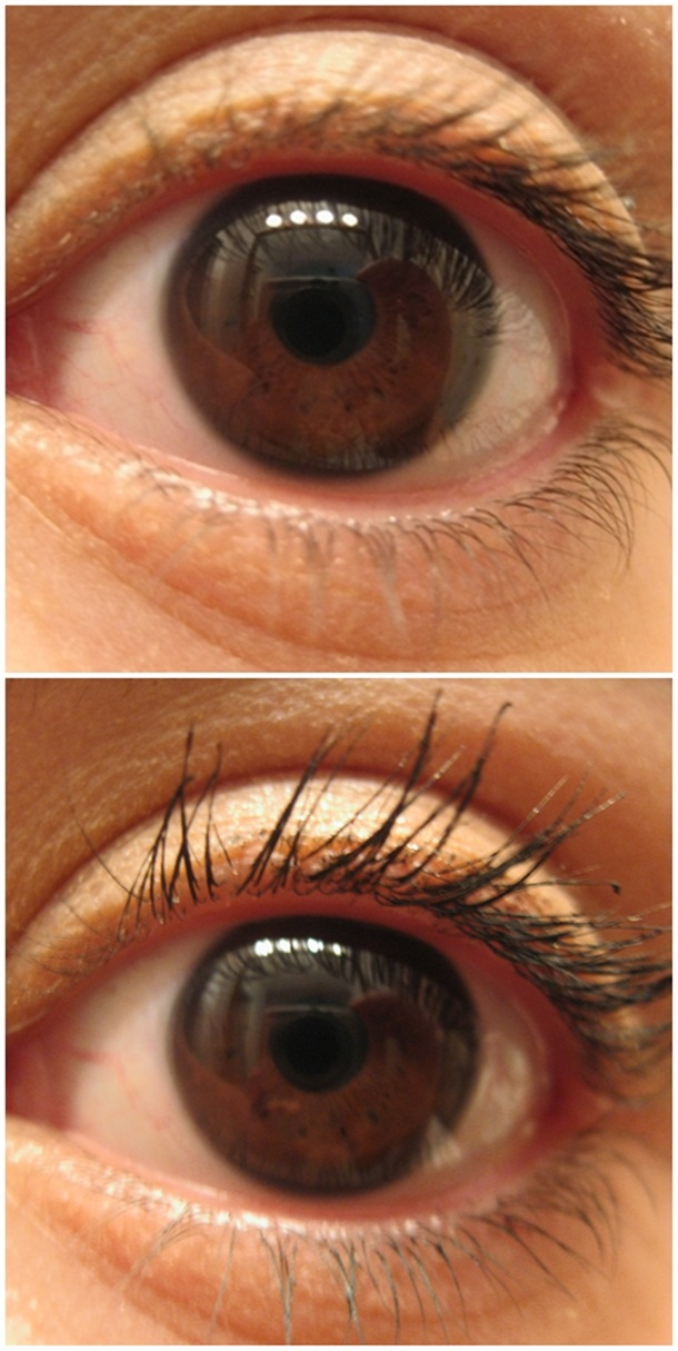 L'Oreal Voluminous Power Volume Black Smoke Mascara Before and After