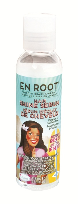 the Balm En Root Smooth Roads A-Head Hair Shine Serum