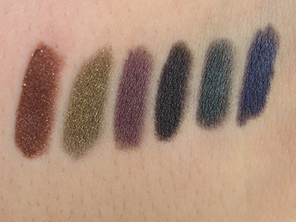 Tarte Eye Opening Holiday Amazonian Clay Eyeliners Swatches