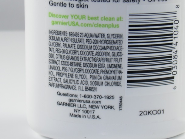 Garnier Purifying Foam Cleanser2