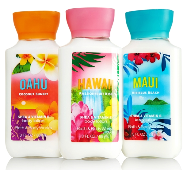 Bath Body Works Hawaii Collection