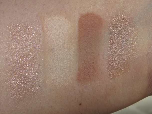 Bobbi Brown Nectar & Nude Eye Palette swatches