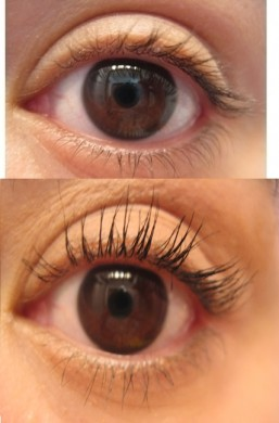 Tarte Best in Faux Lash Extending Fibers before after