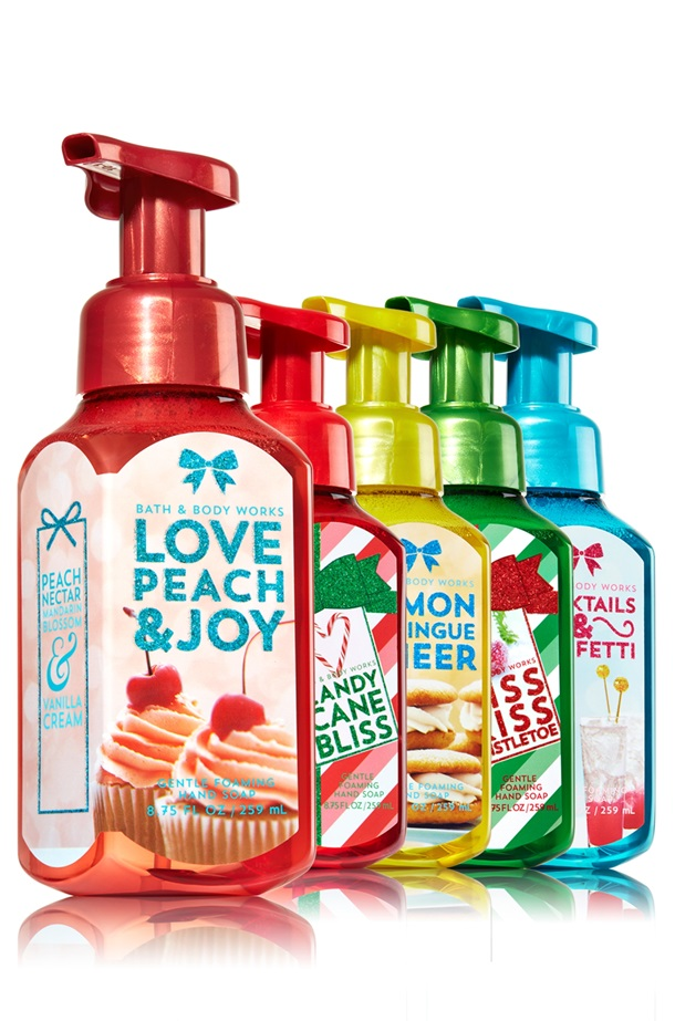 Bath and Body Works Be Merry Be Bright Hand Soaps Launch