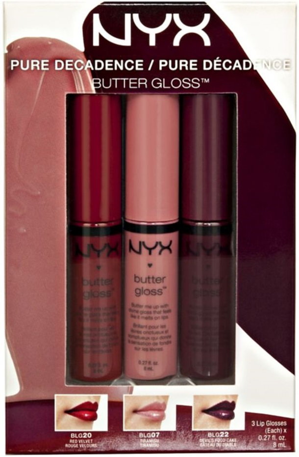NYX Butter Lipgloss Pure Decadence Set