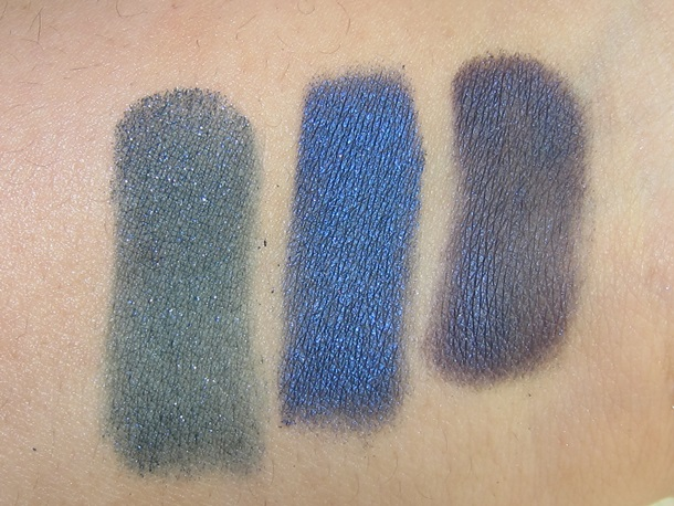 MAC Toledo Moodyblu Eyeshadow Palette swatches