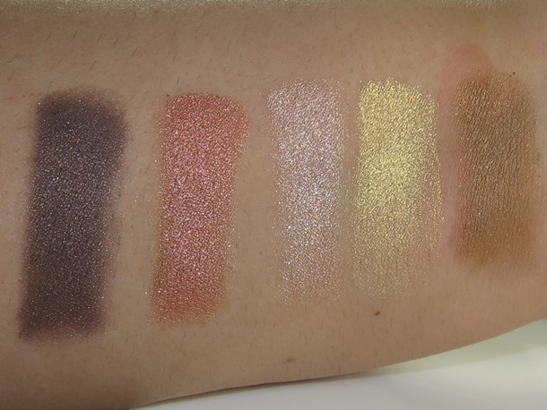 Too Faced Love Passionately Pretty Eyeshadow Palette swatches