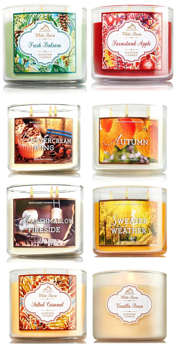 bath & body works fall 2015 candles