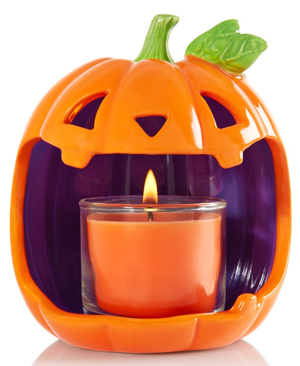 bath & body works jack o lantern candle holder