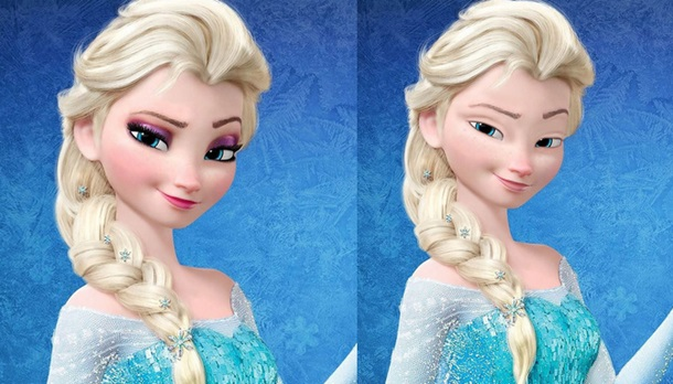 disney elsa without makeup