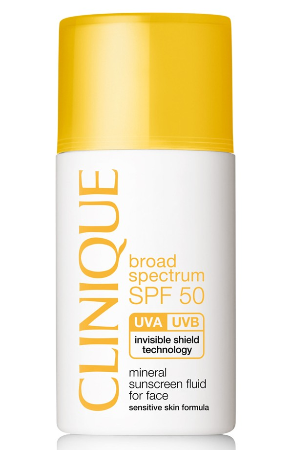 Clinique Broad Spectrum SPF 50 Mineral Sunscreen Fluid for Face