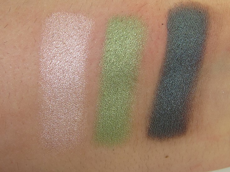 Too Faced Totally Cute Palette Swatches Shooting Star, Clover, Storm Cloud)