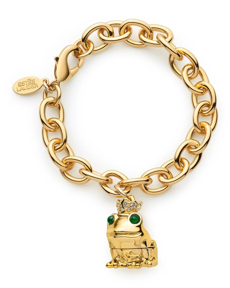 Estee Lauder Loving Frog Charm Bracelet
