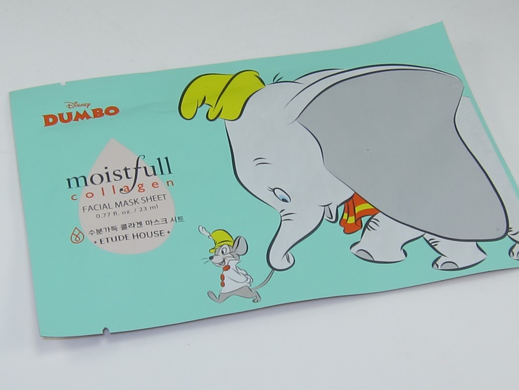 Etude House Dumbo Moistfull Collagen Mask Sheet Review