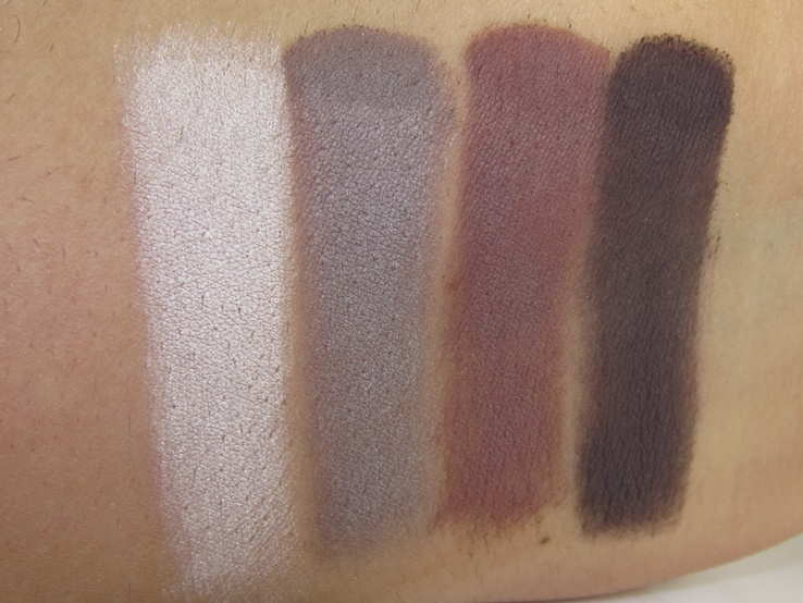 Tarte Tarteist Pro Amazonian Clay Palette Swatches (Vintage, Fierce, No Filter, Vamp)