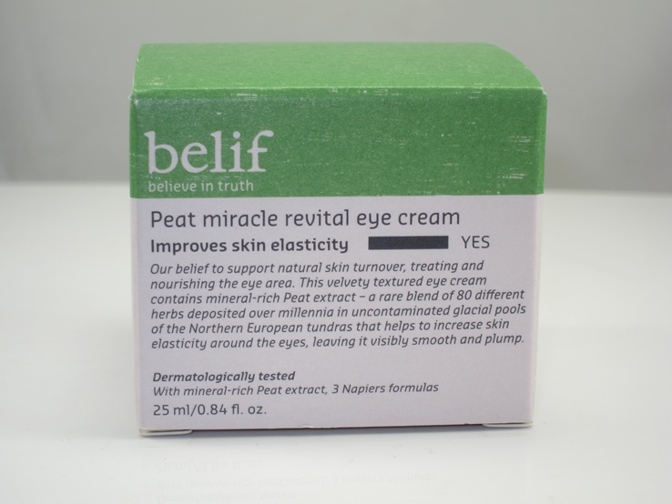 Belif Peat Miracle Revital Eye Cream Review