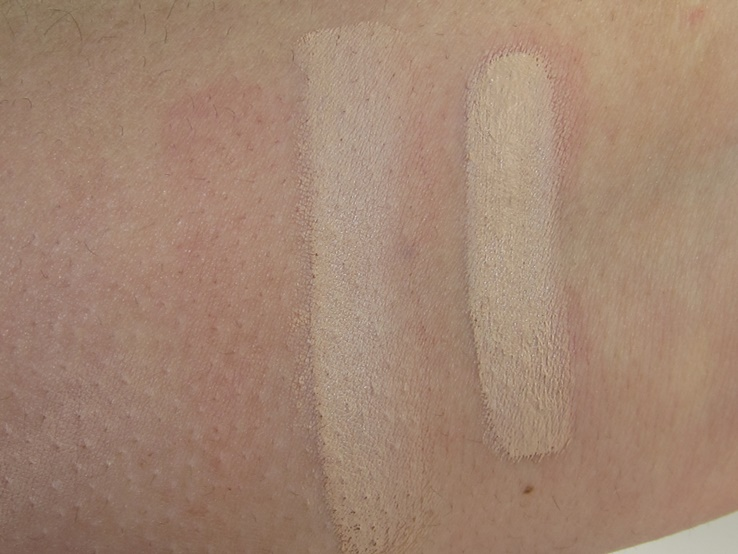 L'Oreal Infallible Total Cover Foundation Swatches (303 Nude Beige)