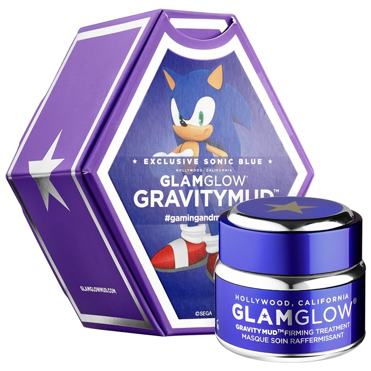 Glamglow GravityMud Sonic Blue Firming Treatment Because Sonic the Hedgehog