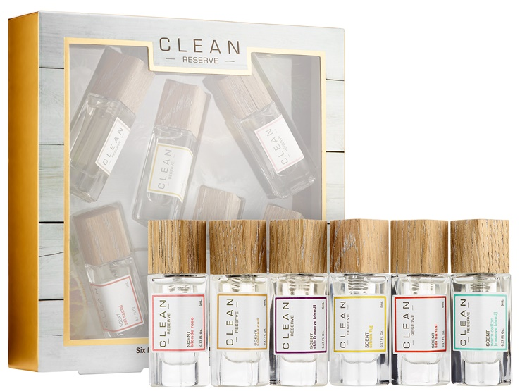 Clean Six Piece Reserve Travel Spray Layering Collection 2017