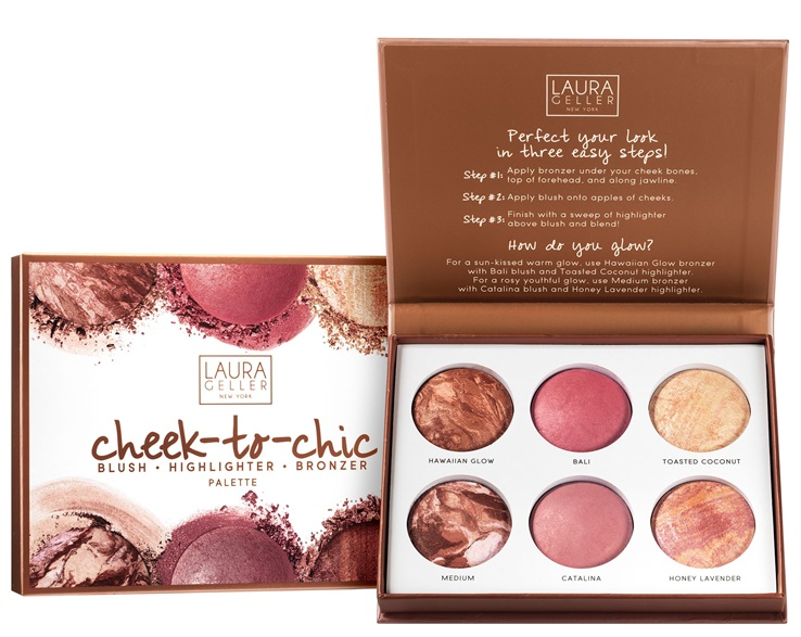 Loving the Laura Geller Cheek to Chic Blush, Highlight, & Bronze Palette